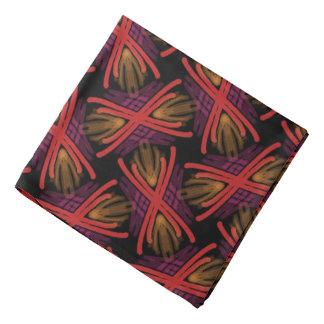 Bandana Jimette Desenho vermelho Borgonha cor de