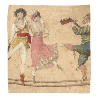 Bandana Jovens que dançam e que cantam, desenho do vintage