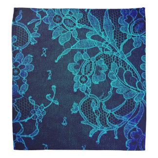 Bandana Laço gótico dos azuis marinhos do Victorian