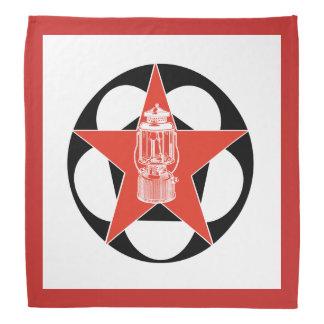 Bandana Lanterna de acampamento do vintage vermelho da