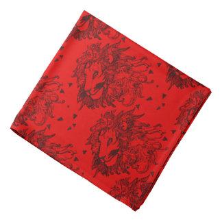 Bandana Leões vermelhos e triângulos modelados