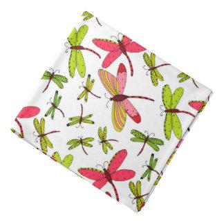 Bandana Libélulas cor-de-rosa e verdes