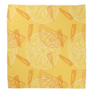Bandana Limões amarelos brilhantes teste padrão tirado do