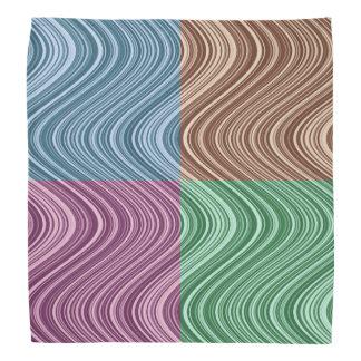 Bandana Linhas onduladas no azul/Brown/verde/roxo