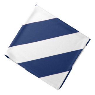 Bandana listrado branco azul