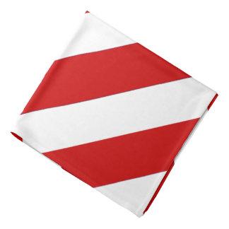 Bandana listrado do NC do branco vermelho