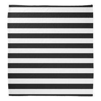 Bandana listrado preto e branco