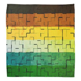 Bandana Listras abstratas coloridos rústicas