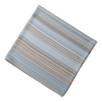 Bandana Listras - azul e Brown