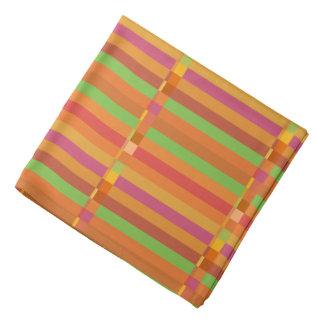 Bandana Listras da modificação e quadrados alaranjados e