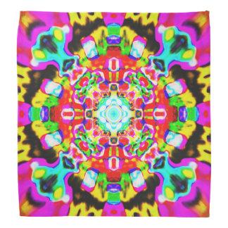 Bandana Mandala ácida da gema do arco-íris