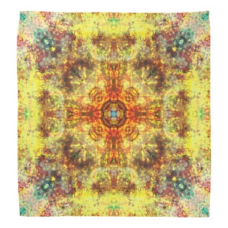 Bandana Mandala amarela do fogo