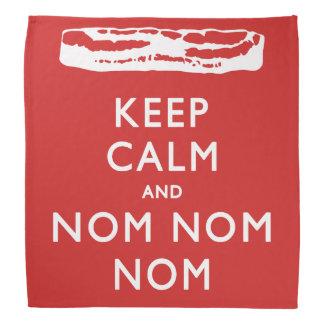 Bandana MANTENHA a CALMA E o NOM NOM NOM - > bacon
