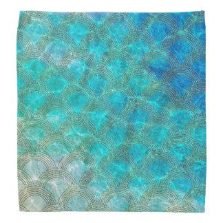 Bandana Mar Mermaidscales do Aqua com quadro do brilho do