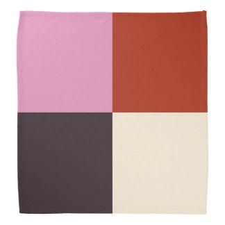 Bandana Marfim cor-de-rosa vermelho da beringela