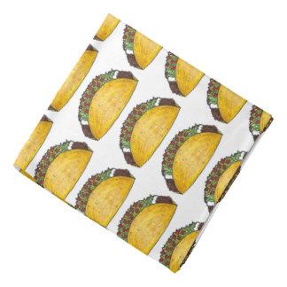 Bandana mexicano do impressão do Tacos do Taco de