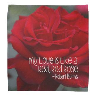Bandana minha rosa vermelha do amor