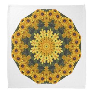 Bandana Natureza de olhos pretos de Susans, Flor-Mandala