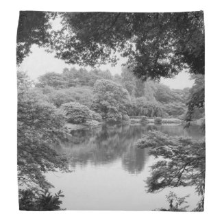 Bandana Natureza e lago preto e branco, legal, originais