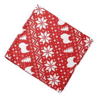 Bandana O cão do Keeshond mostra em silhueta o vermelho do