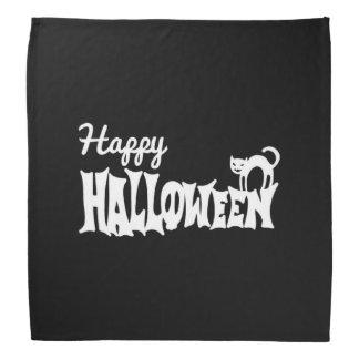 Bandana O Dia das Bruxas feliz preto e branco