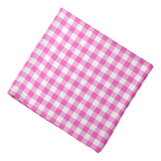 Bandana O guingão cor-de-rosa verifica o teste padrão