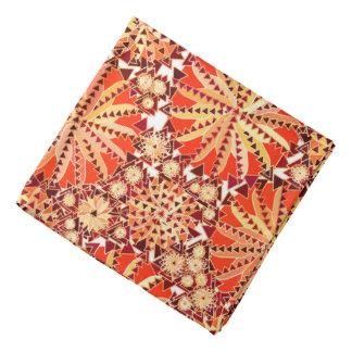 Bandana O impressão tribal da mandala, oxida laranja e