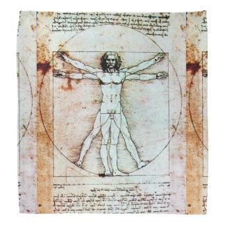 Bandana O pergaminho da antiguidade do HOMEM de VITRUVIAN