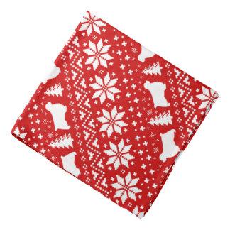 Bandana O Spaniel de Clumber mostra em silhueta o vermelho