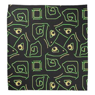 Bandana Olho verde e amarelo legal do teste padrão tribal