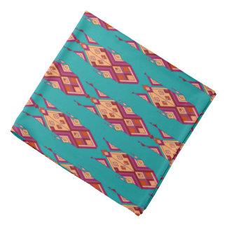 Bandana Ornamento asteca tribal étnico do vintage