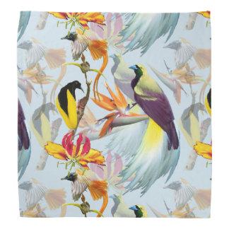 Bandana Pássaros de paraíso exóticos e de aguarela das