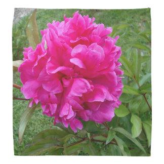 Bandana Peônia cor-de-rosa brilhante