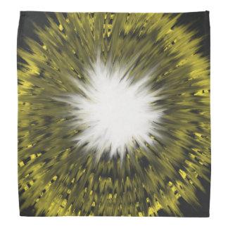 Bandana Pintura branca amarela da arte abstracta de