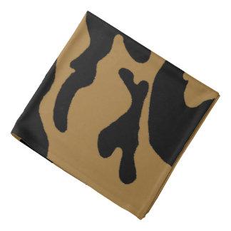 Bandana preto da camuflagem do ouro