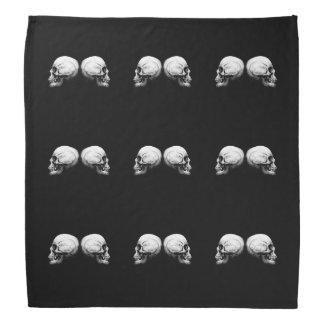 Bandana preto e branco do crânio do perfil