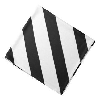 Bandana Quadrado formal do bolso da lapela da listra preta