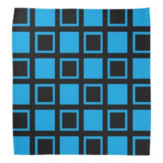 Bandana Quadrados pretos e azuis