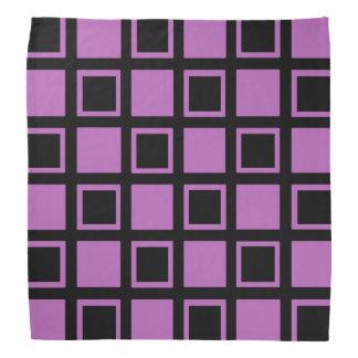 Bandana Quadrados roxos e pretos