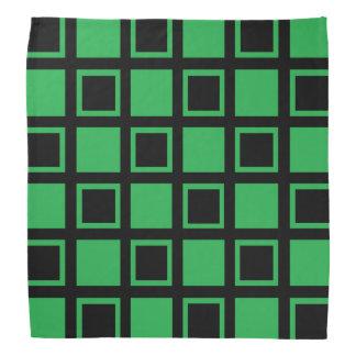 Bandana Quadrados verdes e pretos