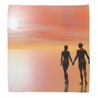 Bandana Romance do casal - 3D rendem