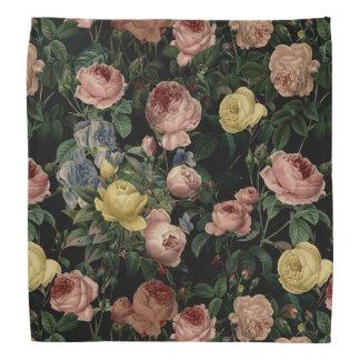 Bandana Rosas da flor do vintage e sonhos Teste-Escuros da