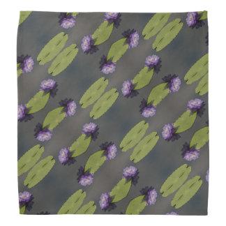 Bandana roxo de Lotus Waterlily