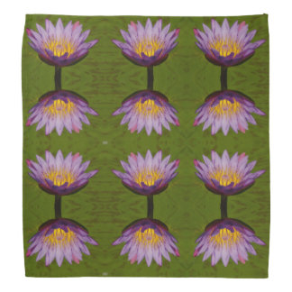 Bandana roxo de Lotus Waterlily