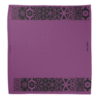 Bandana roxo do design