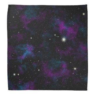 Bandana roxo e azul da galáxia