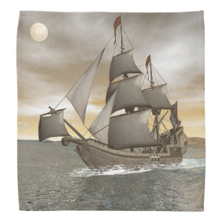 Bandana Sair do navio de pirata - 3D rendem