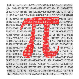 Bandana Símbolo matemático do dia vermelho original do pi
