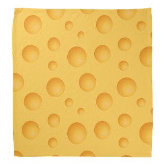 Bandana Teste padrão amarelo do queijo