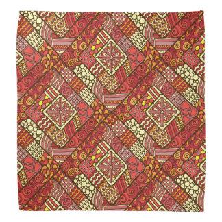 Bandana Teste padrão asteca tribal abstrato do vermelho